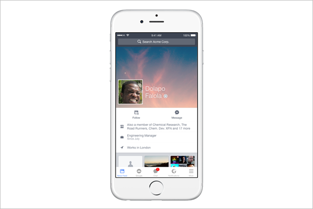 Facebook запустит версию соцсети для работы до конца года. Изображение № 2.