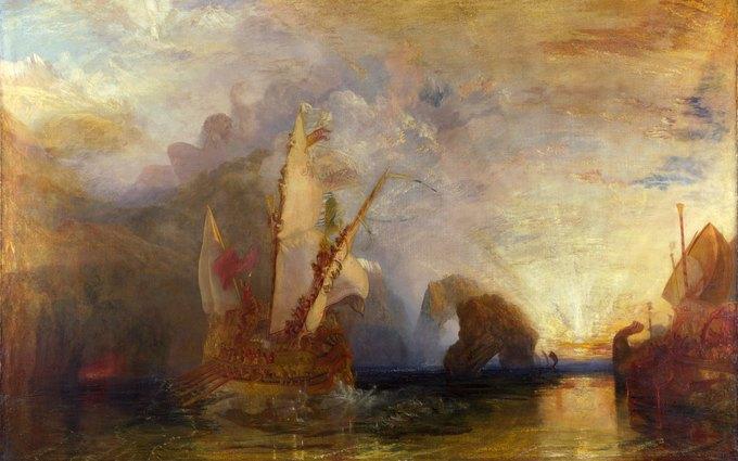 Уильям Тернер, «Одиссей покидает пещеру Полифема». Изображение № 1.