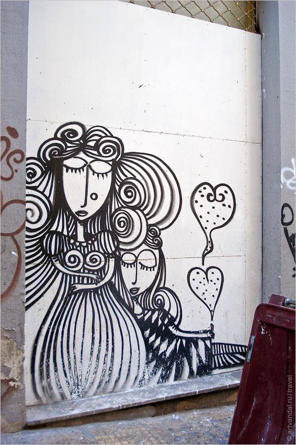Стрит-арт и граффити Афин, Греция. Часть 2. Изображение № 3.