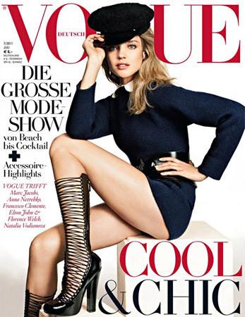 Обложка немецкого Vogue, июль 2011. Изображение № 55.