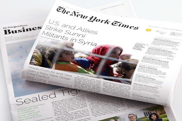Студент переделал печатную версию TheNew York Times. Изображение № 3.
