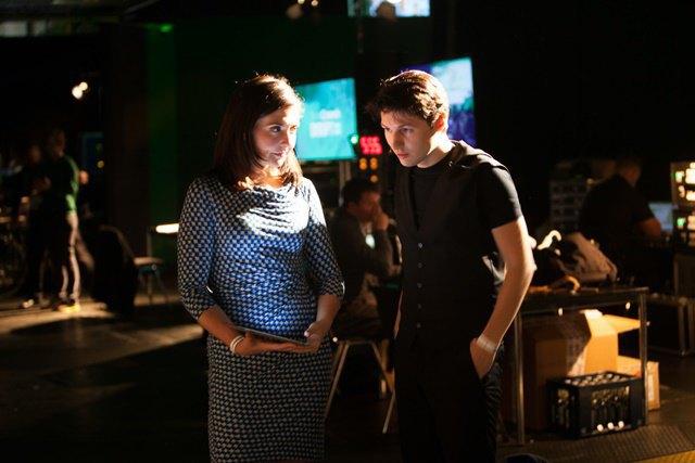 Павел Дуров с ведущей мероприятия TechCrunch Disput в 2013 году (Берлин). Изображение № 1.