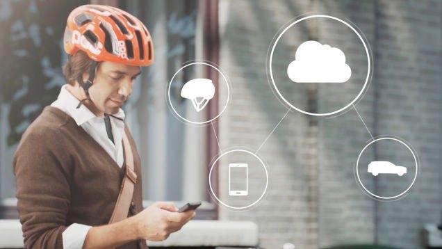 Volvo разработала «умный» шлем для велосипедистов. Изображение № 1.