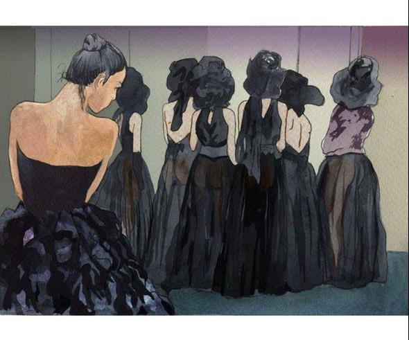 Изображение 27. Что происходит, когда иллюстратора пускают на модный показ.. Изображение № 23.