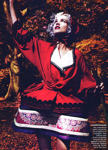 Into the Woods. Natalia Vodyanova. Vogue Sept-09. Изображение № 8.