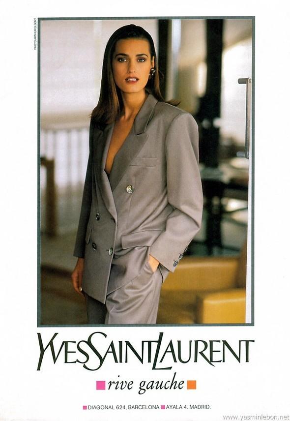 Архивная съёмка: Рекламная кампания Yves Saint Laurent SS 1991. Изображение № 6.