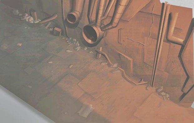 Анимация: бродяга спасает пса встимпанковском городе. Изображение № 26.