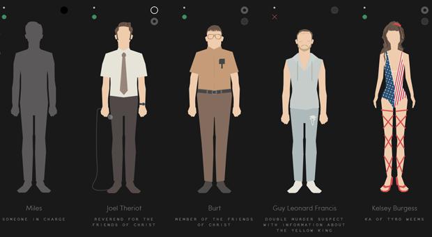 Инфографика собрала всех героев «Настоящего детектива». Изображение № 1.