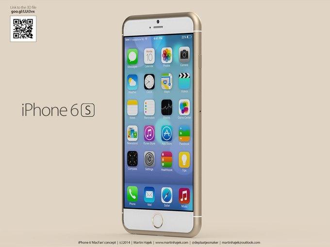 Концепт смартфонов iPhone 6s и 6c авторства Мартина Хайека (martinhajek.com) . Изображение № 1.