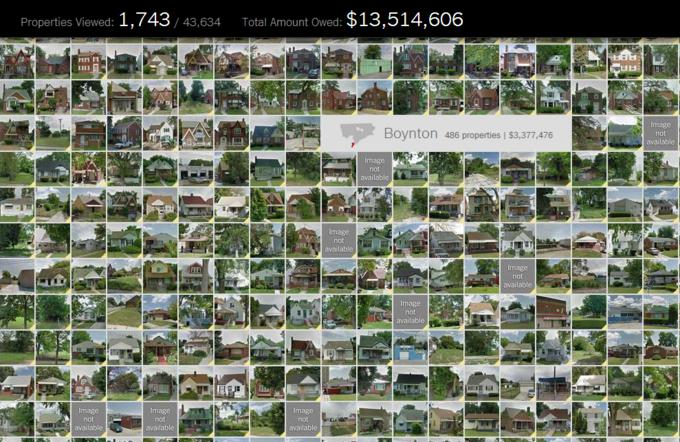 Спецпроект NYT показал 43 634 заброшенных дома в Детройте . Изображение № 1.