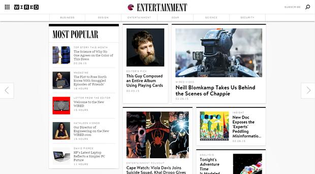 Издание Wired провело полный редизайн сайта. Изображение № 4.