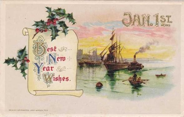 Новогодние открытки 1912 года. Изображение № 4.