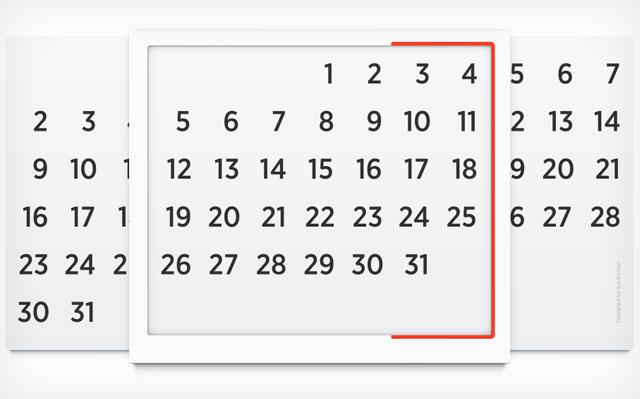 Российский дизайнер «изобрёл» вечный настенный календарь . Изображение № 1.