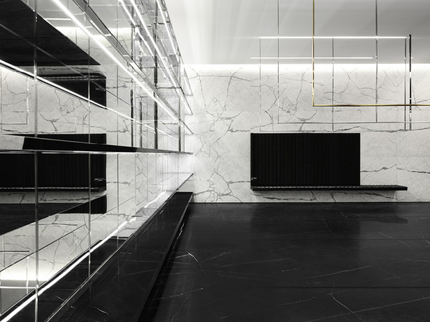Эди Слиман разработал дизайн бутика Saint Laurent. Изображение № 11.