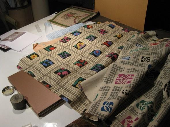 Ручная набойка по ткани: Е.А.Шнайдер и Н.Чурбакова. Изображение № 12.