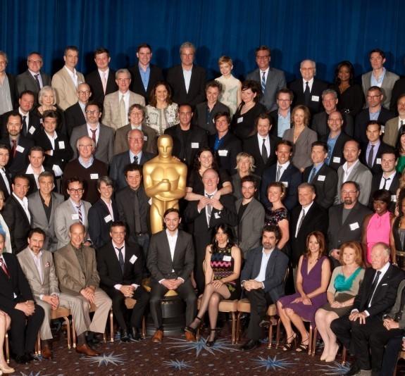 Все номинанты на «Оскар-2012» на одном фото. Изображение № 3.