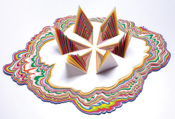 Абстракция из цветной бумаги. Изображение № 1.