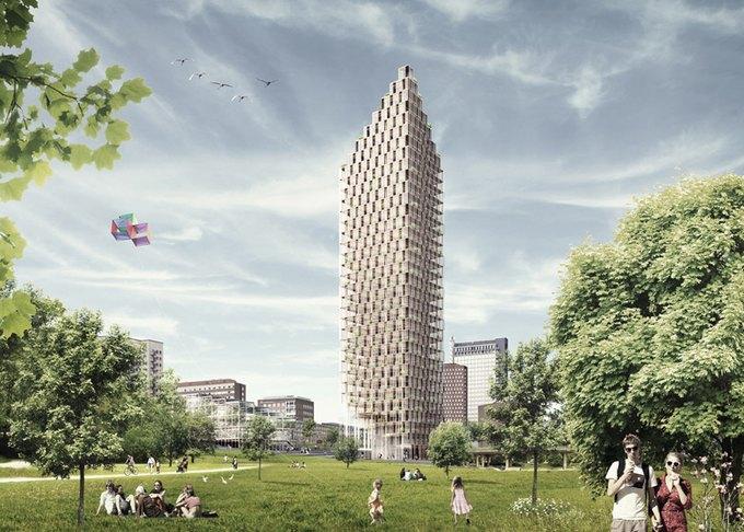 В Швеции хотят построить жилой небоскреб из дерева. Изображение № 1.