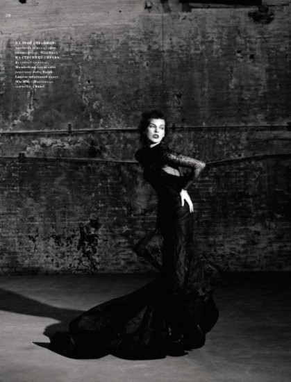 Mila Jovovich. Harper's Bazaar, sept-2009. Изображение № 9.
