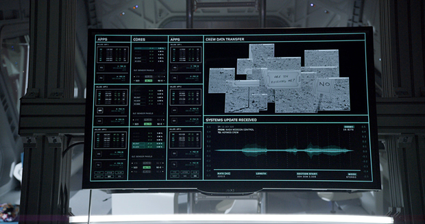 Студия рассказала обинтерфейсах в«Марсианине». Изображение № 9.