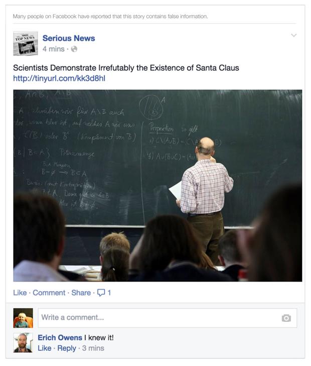 Facebook будет помечать фейковые новости. Изображение № 2.