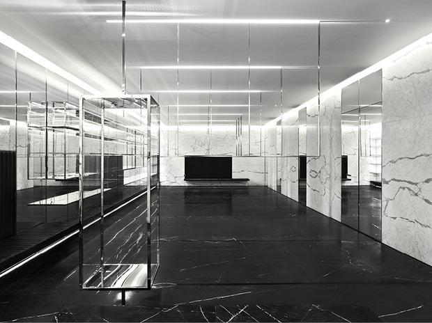 Эди Слиман разработал дизайн бутика Saint Laurent. Изображение № 6.