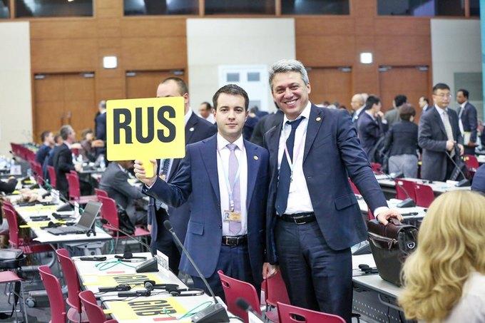 Министр связи Николай Никифоров на Совете МСЭ в Пусане. Изображение № 1.