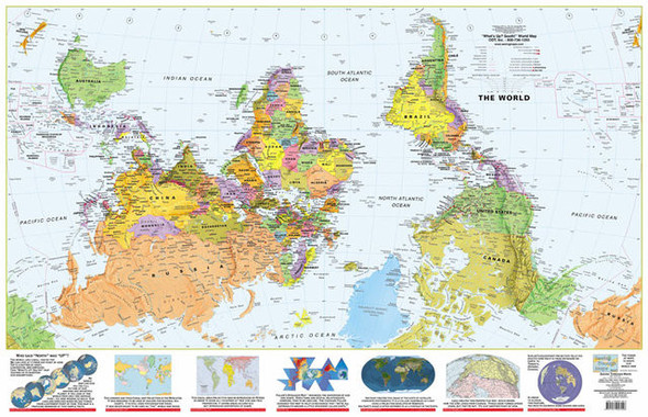 Карта мира с точки зрения Америки, Австралии, ЮАР и Франции. Изображение № 2.