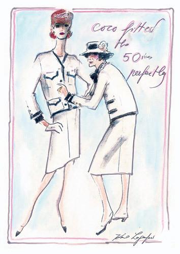 Иллюстрация Карла Лагерфельда к книге «Coco Chanel. Легенда и жизнь» . Изображение № 12.