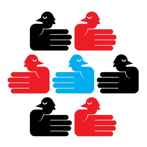 Птички-ладошки иллюстратора Франческо Муцци. Изображение № 7.