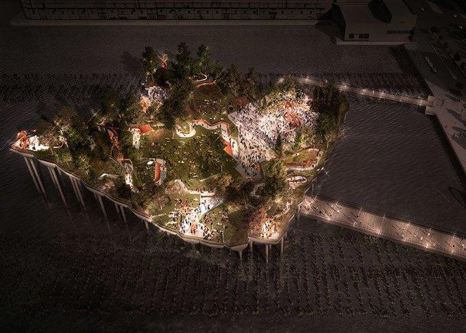Пирс в Нью-Йорке превратят в плавучий парк. Изображение № 8.