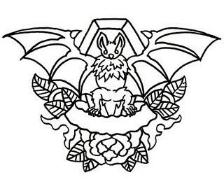 татуировка летучая мышь. Изображение № 3.