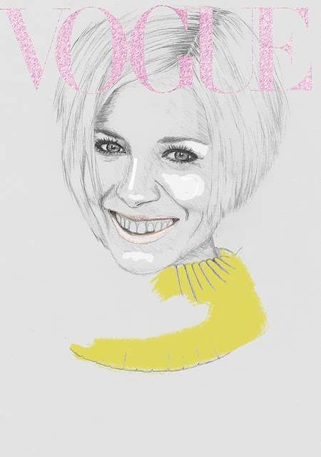 Vogue Covers: знаменитая Hazel Castle нарисовала журнал карандашом. Изображение № 4.