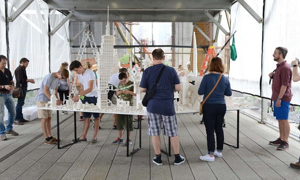 10 архитектурных бюро собрали модели зданий из белого LEGO. Изображение № 7.