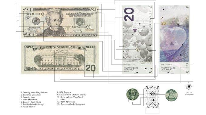 Американец представил редизайн доллара США. Изображение № 7.
