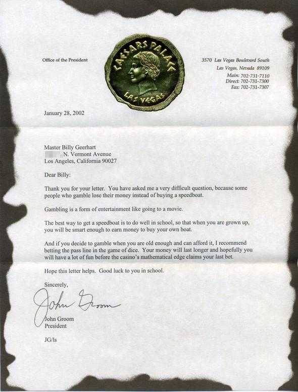 Письма маленького Билли известным и не очень людям. Изображение № 15.