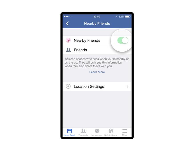 Мобильное приложение Facebook покажет друзей поблизости . Изображение № 4.