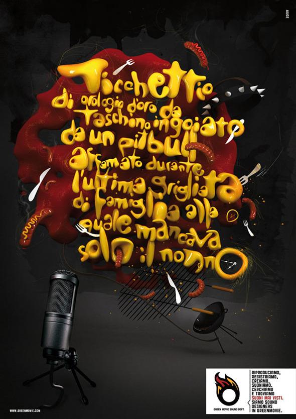 50 примеров использования типографики в рекламе. Изображение №18.