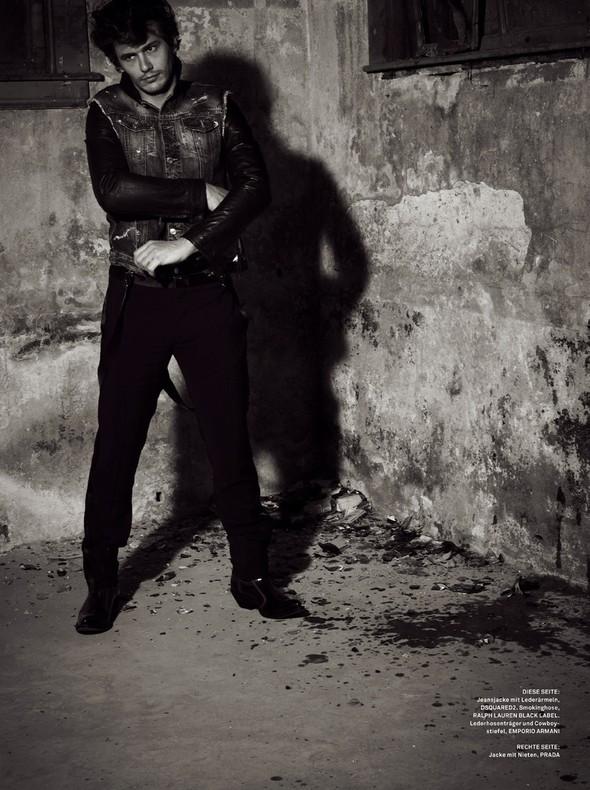 Съёмки: Джеймс Франко для GQ Style и Мила Кунис для Harper's Bazaar. Изображение № 5.