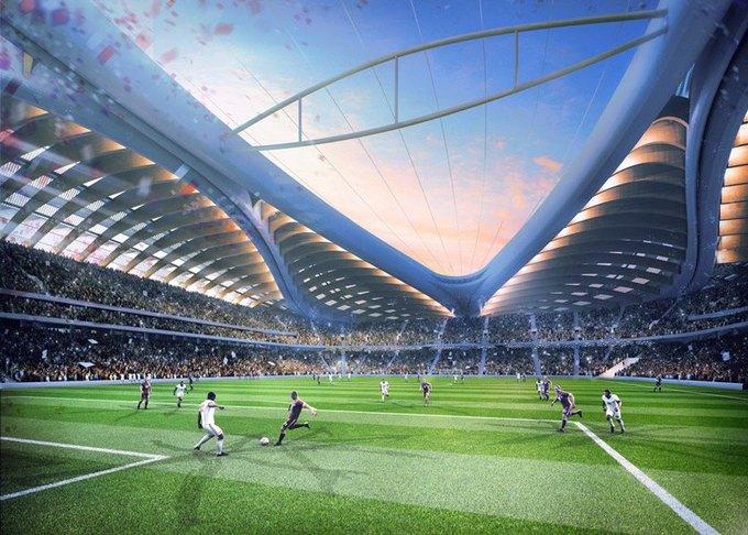Заха Хадид представила дизайн стадиона в Катаре. Изображение № 2.