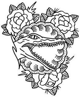 значение татуировки аллигатор или крокодил. Изображение № 11.