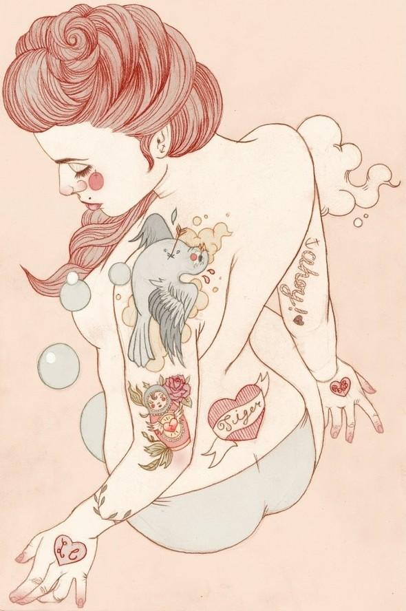 Карандашные рисунки художницы из Лондона Liz Clements.. Изображение № 13.