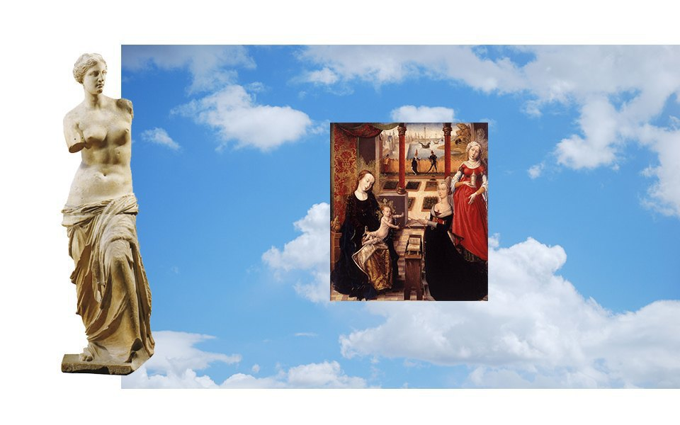 Мраморные статуи, облака, фламандские портреты XV века. Изображение № 8.