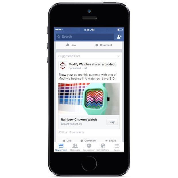 Facebook начала тестировать кнопку «Купить» . Изображение № 1.