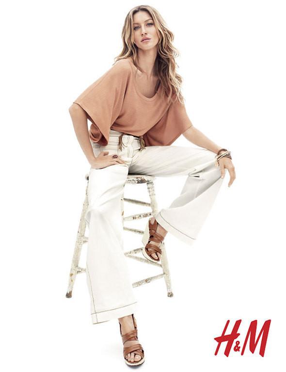 Gisele Bündchen в богемном стиле для H&M Весна 2011. Изображение № 4.