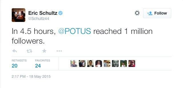 Обама побил рекорд по количеству подписчиков в Twitter . Изображение № 1.