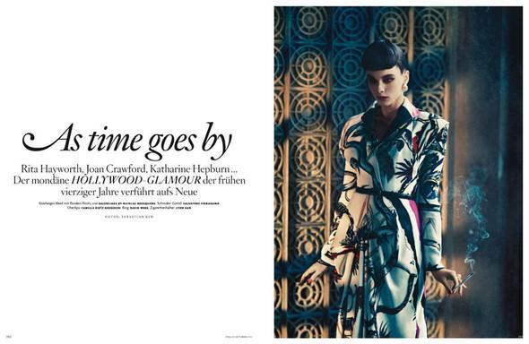 Съёмка: Кристал Ренн для немецкого Vogue. Изображение № 1.