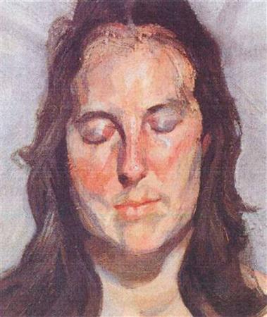 Люсьен Фрейд «Женщина с закрытыми глазами». Изображение № 7.
