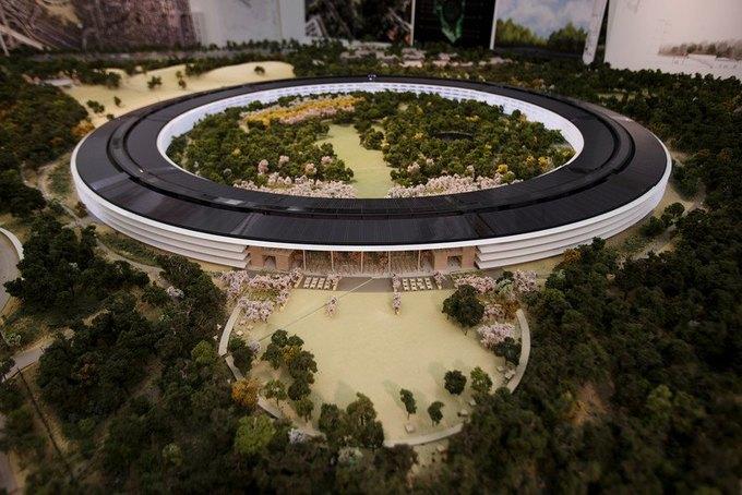Опубликован макет футуристического кампуса Apple. Изображение № 2.