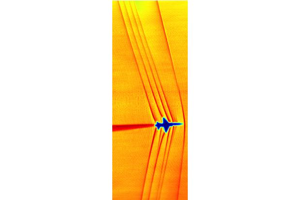 NASA показало волны от полёта быстрее скорости звука. Изображение № 3.